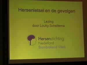 een hele mooie lezing over Hersenletsel gegeven door Louky Scheltema